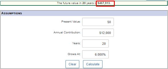 retirement calculations